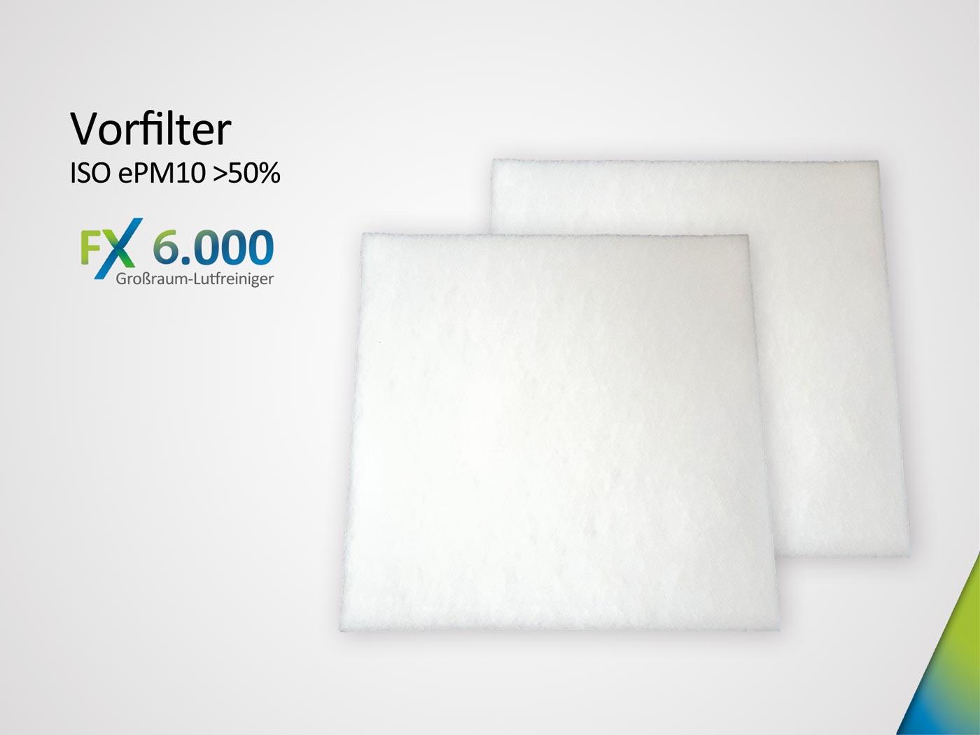 Ersatzfiltervlies für FX6.000 bestehend aus 2 x Grobstaubfilter ISO ePM10 > 50%