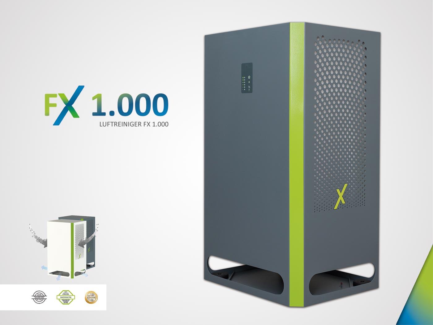 FX 1.000 - Luftreiniger Raumluftfilter mit HEPA H14 Filter inkl. Vorfilter