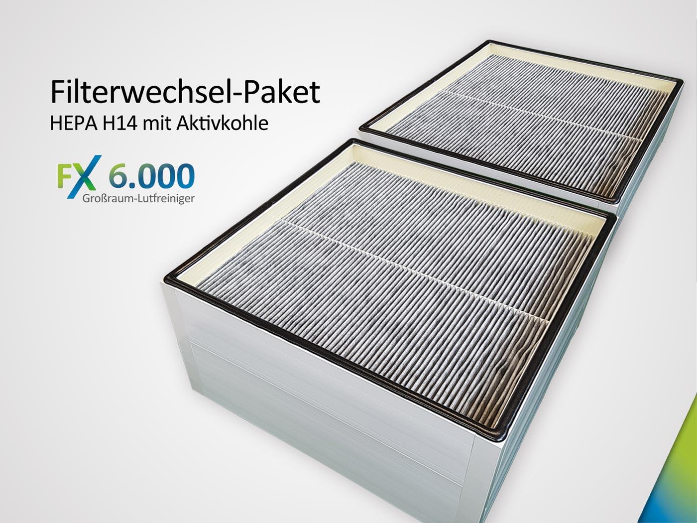 Filterwechsel-Paket FX6.000 Set bestehend aus 2 xKombifilter HEPA H14& AktivkohleAK