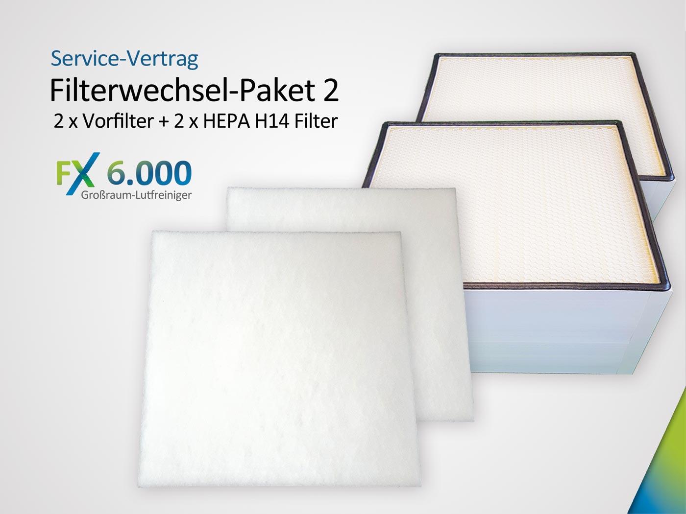 Filterwechsel-Paket FX6.000 Set aus 2 x Grobstaubfilter ISO ePM10 > 50% & Hauptfilter 2 x HEPA H14 Kopie