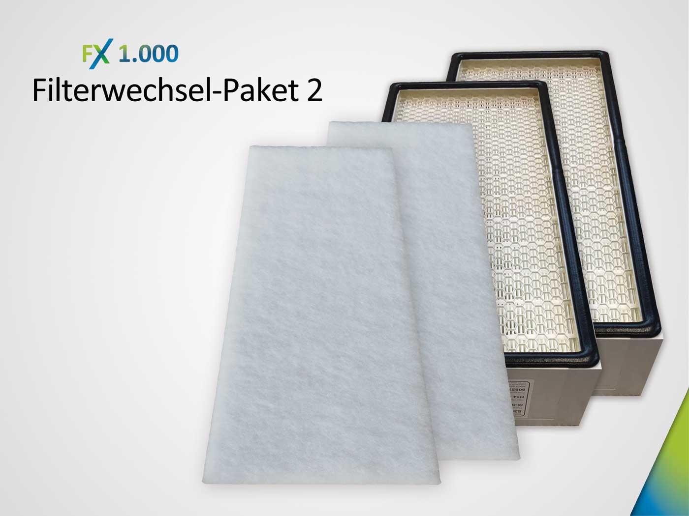 Filterwechsel-Paket bestehend aus 2 x Grobstaubfilter ISO ePM10 > 50% & Hauptfilter 2 x HEPA H14