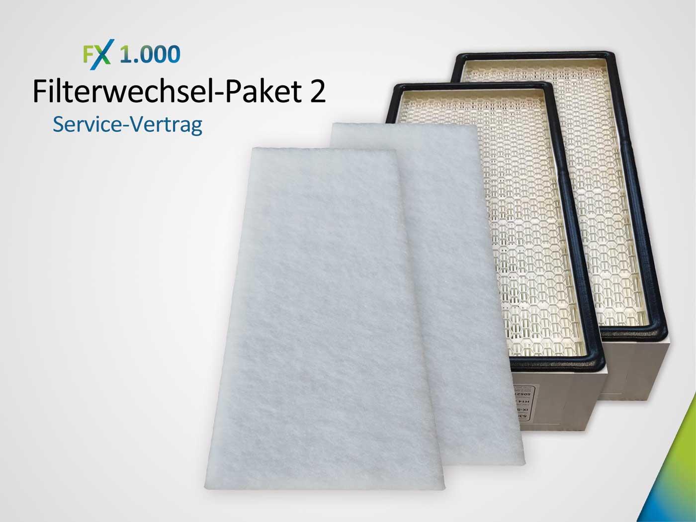 Servicevertrag Filterwechsel-Paket bestehend aus 2 x Grobstaubfilter ISO ePM10 > 50% & Hauptfilter 2 x HEPA H14